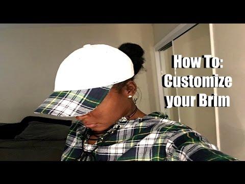 78e76324 DIY: Custom Brim Dad Hat *SEWING* - YouTube