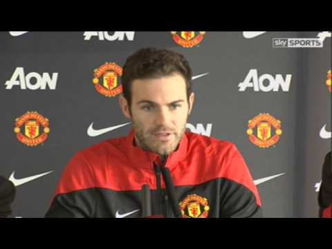 Juan Mata 'Live & Exclusive' First Manchester United Press Conference - 27\01\2014