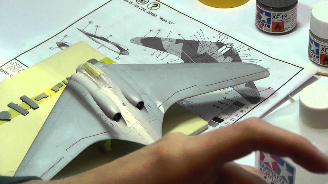 Stavba modelu Horten 229 Revell 1/72 část 1 - YouTube