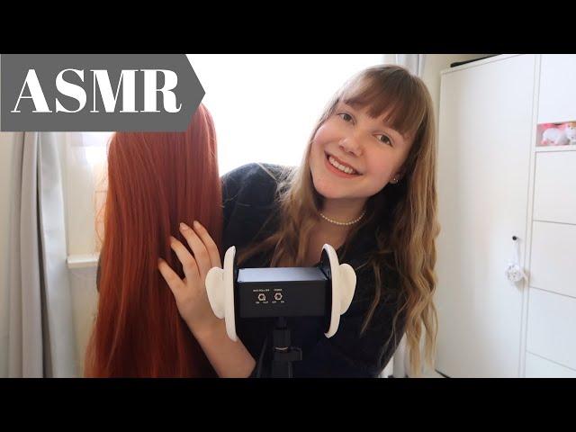 ASMR Brain Massage & Hair Brushing (+Wig Review)