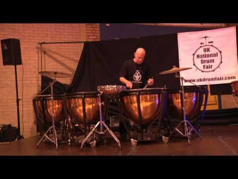 Eric Delaney 2009 UK National drum fair - plus rare interview