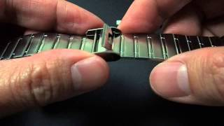 tutorial how to adjust casio watch metal band