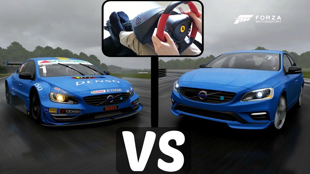 Race Car Vs Road Car Volvo Polestar Forza Youtube