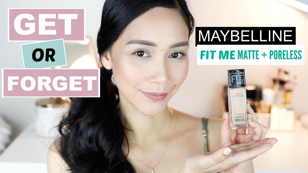 Maybelline Fit Me Matte Poreless Foundation Review Wear Test Airyrooms 30ml