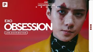 EXO - OBSESSION // Line Distribution