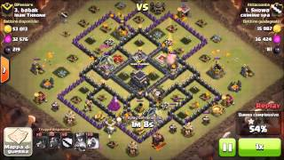 """Clash of clans - Th9 3Stars attack on a variation of """"The General Base"""" with PentaLavaLoon"""