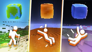 MINECRAFT ON OTHER PLANETS!? (Gravity Parkour)