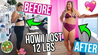 HOW I LOST 12LBS! WHAT I EAT IN A DAY TO LOSE WEIGHT!!