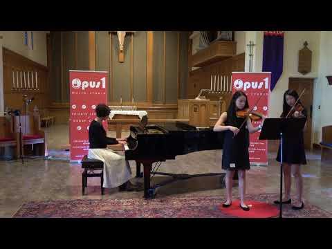 2018 Opus 1 Music Studio Spring Recital   - Sabrina Fong and Ashley Siu , Violin Duet