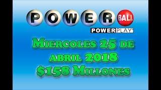Gambar cover Resultados Powerball 25 Abril 2018 $158 Millones Powerball en Español
