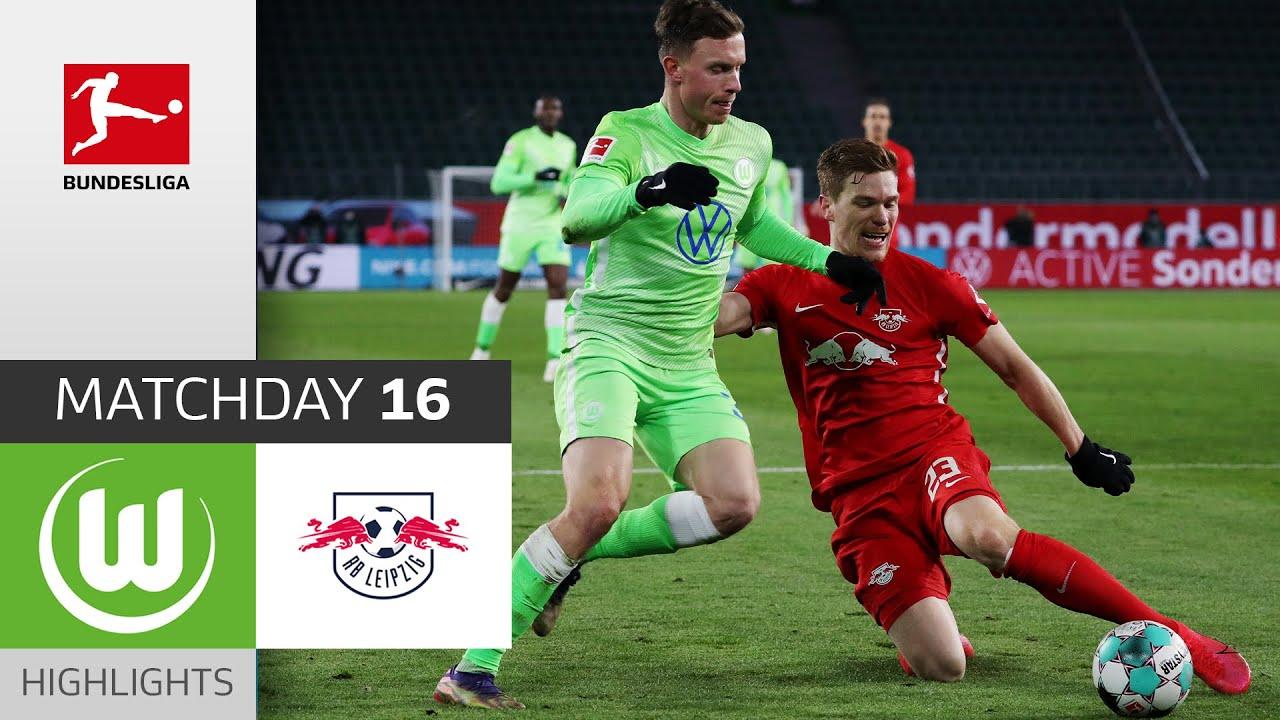 Vfl Wolfsburg Rb Leipzig 2 2 Highlights Matchday 16 Bundesliga 2020 21 Youtube