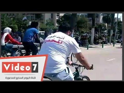 انطلاق مهرجان ماراثون الدراجات بجامعة عين شمس  - 13:54-2018 / 9 / 24