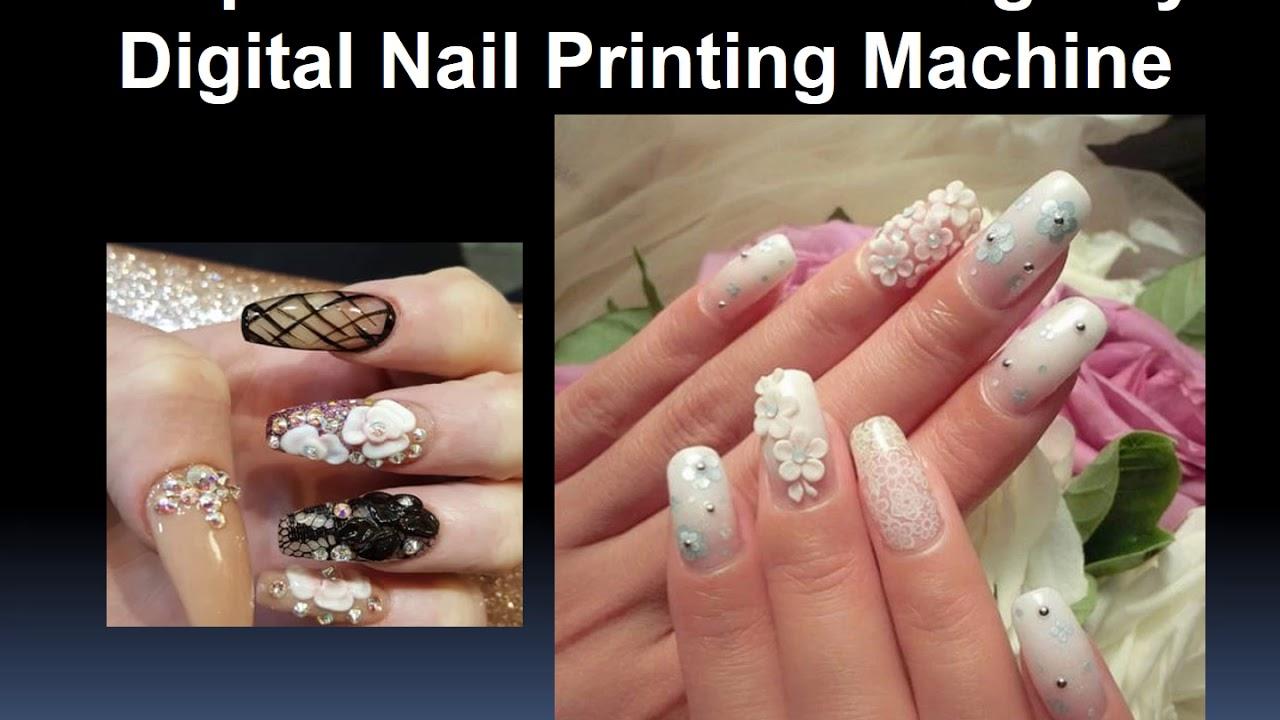 Prepare 3d Nail Art Design By Digital Nail Printing Machine Youtube