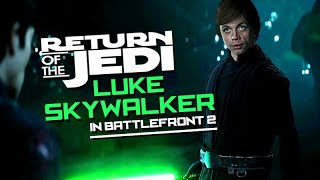 Return of the Jedi Luke Skywalker / Mark Hamill in STAR WARS: Battlefront 2 【Deepfake Gaming】
