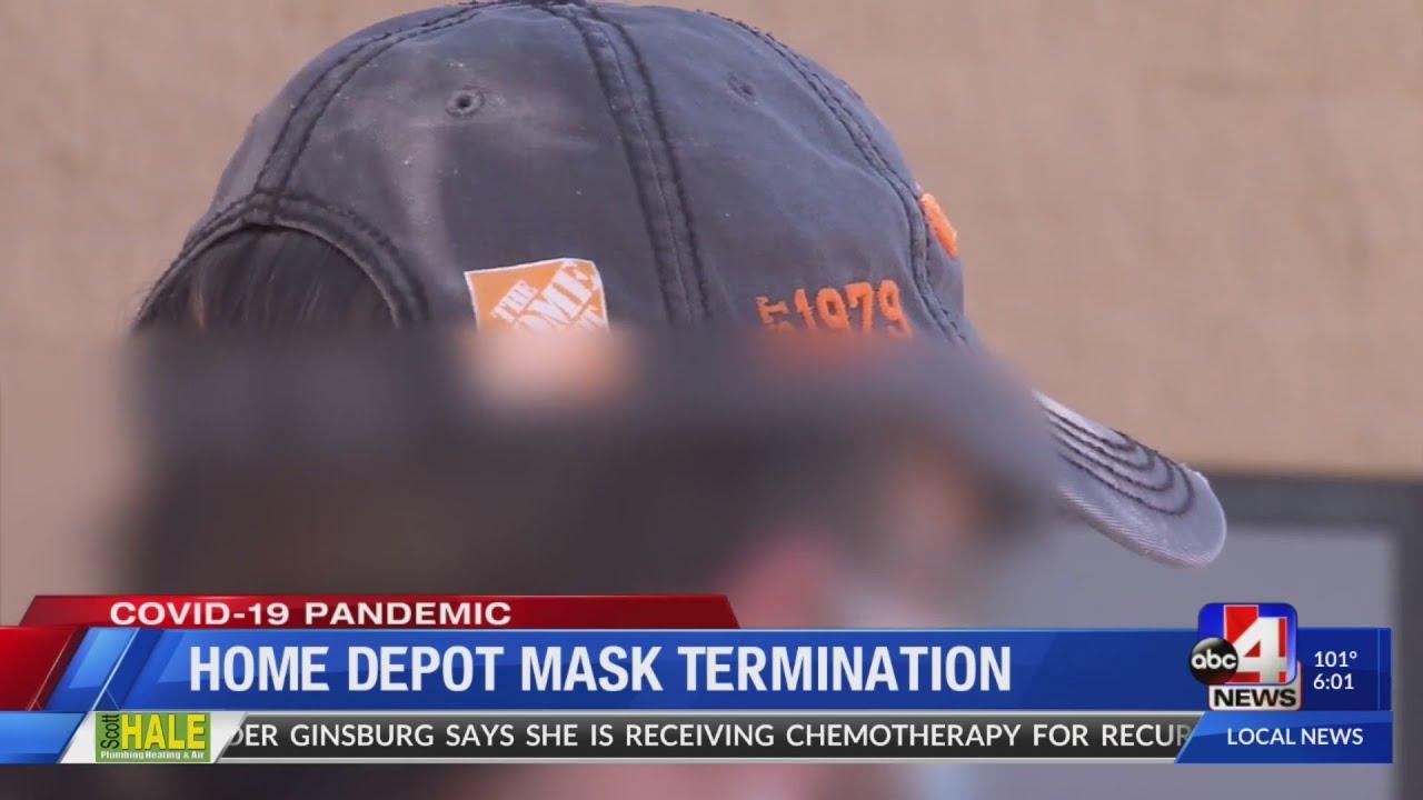 Home Depot Mask termination 6pm pkg