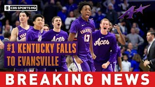 No. 1 Kentucky upset by Evansville in stunner at Rupp Arena | CBS Sports HQ