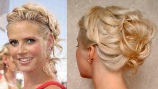 Prom hairstyle for medium long hair Curly updo Heidi Klum hochsteckfrisuren für mittel lange haare