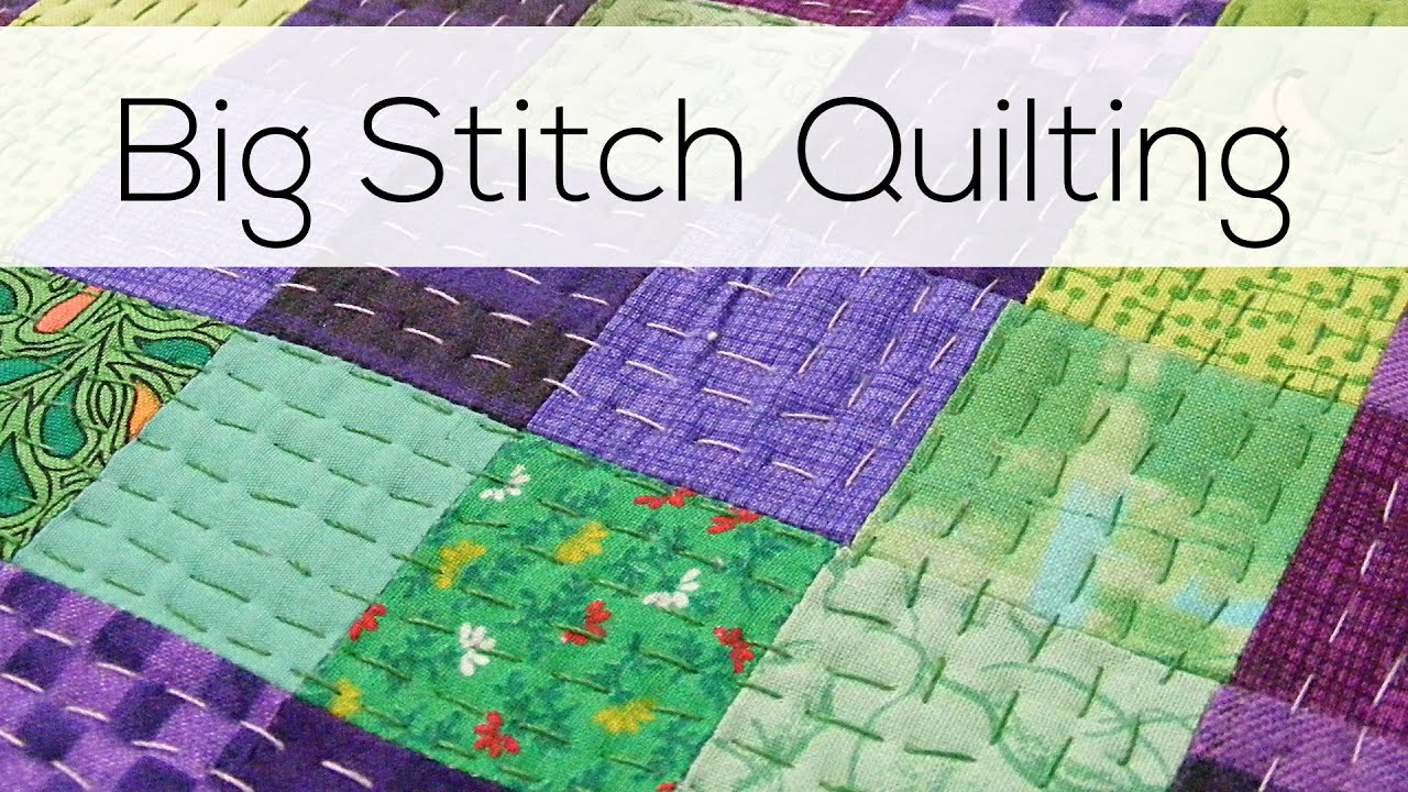Big Stitch Quilting - YouTube : quilt stitch - Adamdwight.com