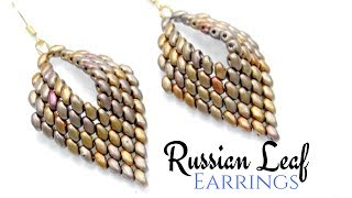 How to make a Russian Leaf Earrings - Miniduo DIY Beading Ideas -