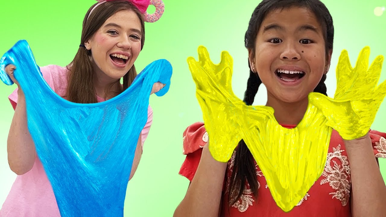 Jannie Playing with Slimes and Sand Ice Cream | Kids Make Slime
