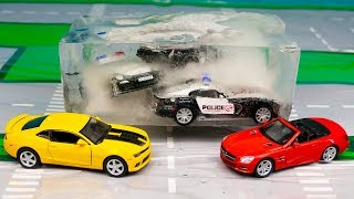 Мультфильм Заморозили Полицейские машины, Полицейская погоня, Гонки 312 Серия Мир Машинок