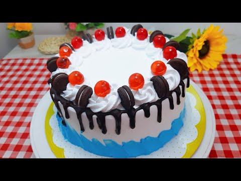 เค้กวันเกิด Brithday cake เนื้อสปันจ์ วิธีแต่งหน้าเค้กแบบง่ายๆ พร้อมคำนวณต้นทุน   new new eat food