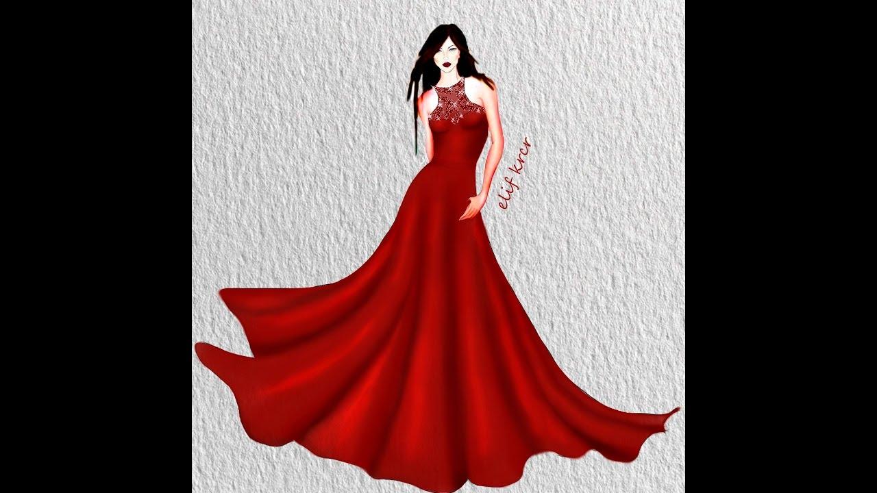 57a4959a9a7d5 Kolay Elbise Çizimleri - YouTube