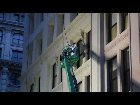 NYC Decon Contractors Working To Clean Buildings In Flatiorn, Manhattan After A Steam Explosion
