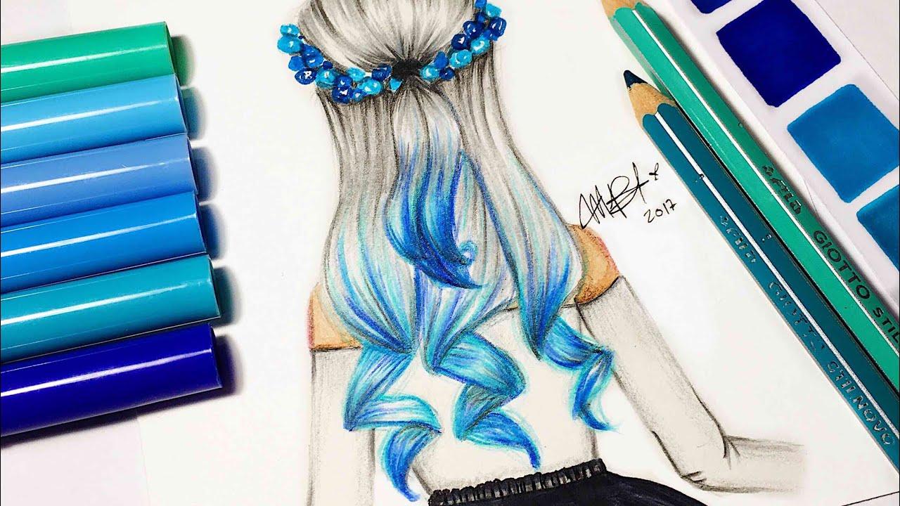 Kawaii Anime Girl Iphone Wallpaper Chica Tumblr Con Cabello Azul Los Tutos Youtube