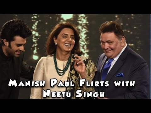 Manish Paul flirts with Neetu Singh in front of Rishi Kapoor on HT Most Stylish 2017