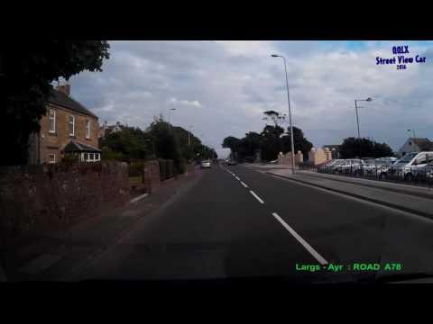 0272 SCOTLAND : Largs - Ayr - ROAD A78 Driving through