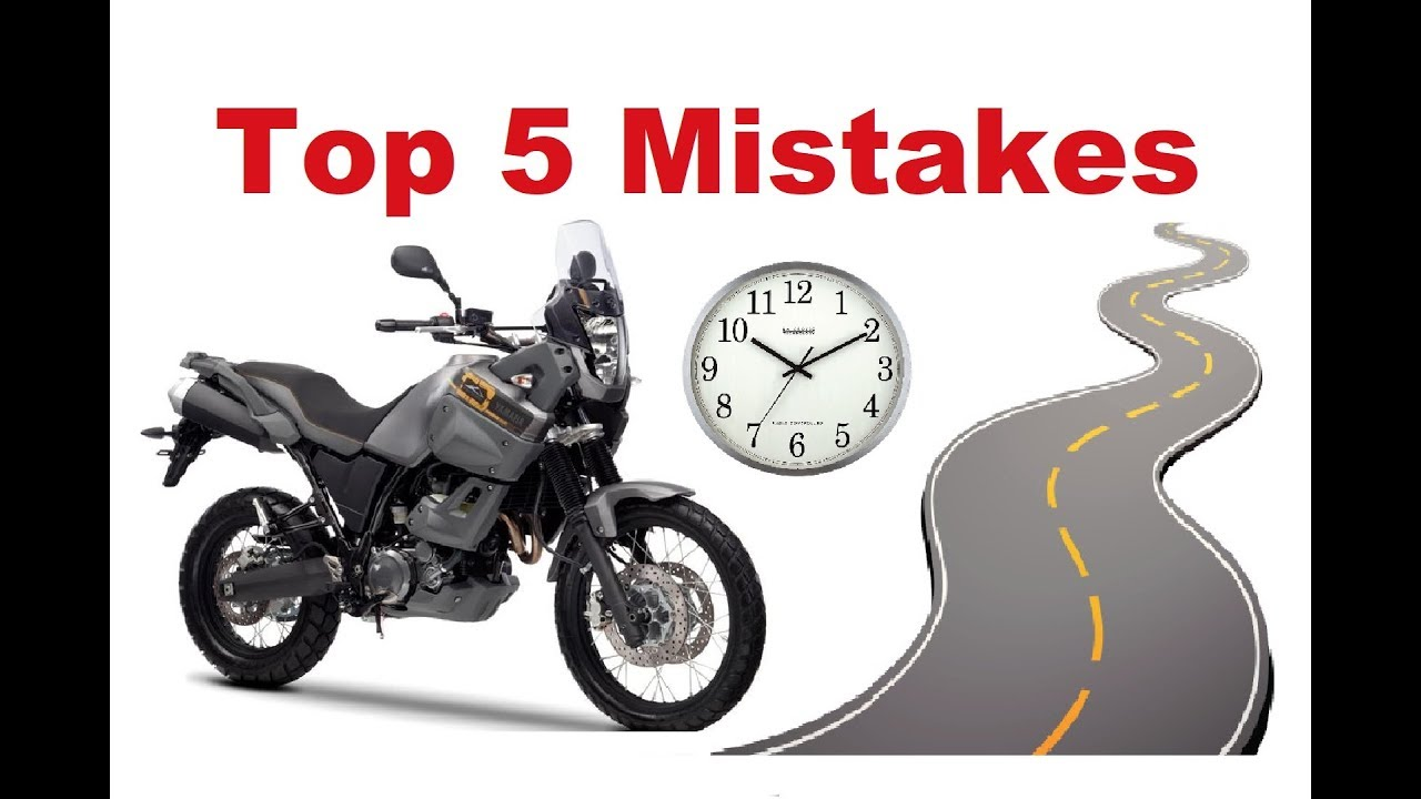 Top 5 Common Mistakes On A Long Motorcycle Trip How To Avoid Them
