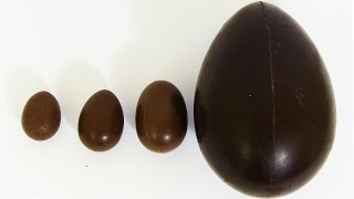 Learn Sizes with Surprise Eggs! Opening Kinder Surprise Egg Kinder Chocolate Eggs