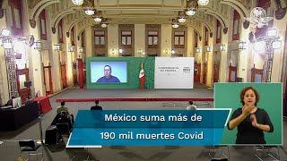 Reporte Covid en México del sábado 6 de marzo. Estiman 2 millón 320 mil 836 casos; hay 1 millón 666 mil 658 personas recuperadas. Suman 190 mil 357 decesos. En las últimas 24 horas se registraron 779 muertes. Destacan que a la fecha hay 50 mil 460 casos activos estimados de Covid en México