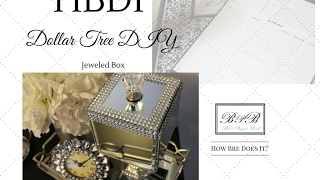 DOLLAR TREE DIY:  Jeweled Mirrored Gift Box (Super Easy)