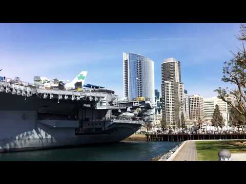 USS Midway Aircraft Carrier Ship in San Diego (Retired 1992)