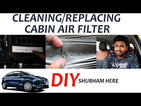 CABIN AIR FILTER CLEANING | BALENO | DIY | SHUBHAM HERE #MARUTI