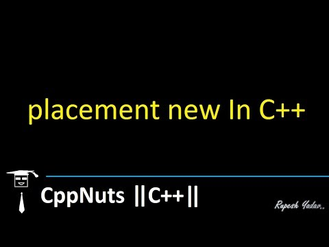 placement new In C++