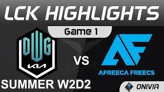 DK vs AF Highlights Game 1 LCK Summer Season 2021 W2D2 DWG KIA vs Afreeca Freecs by Onivia
