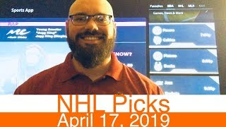 NHL Picks (4-17-19)   Hockey Sports Betting Stanley Cup Playoff Expert Predictions   April 17, 2019
