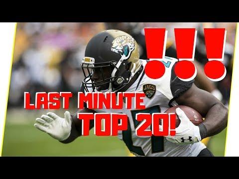 Fantasy Football RB Rankings - Last Minute Top 20 List