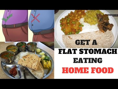 8 TIPS to get FLAT TUMMY eating INDIAN HOME FOOD (घर का खाना)