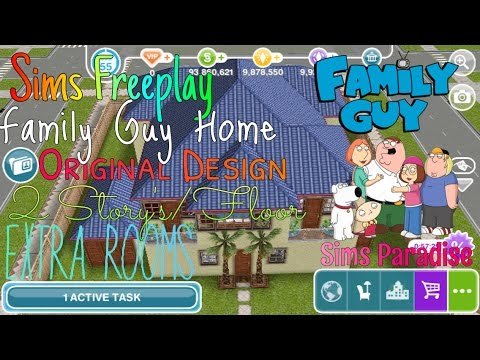 Sims Freeplay Family Guy House Tour Original Design Sims Paradise Youtube