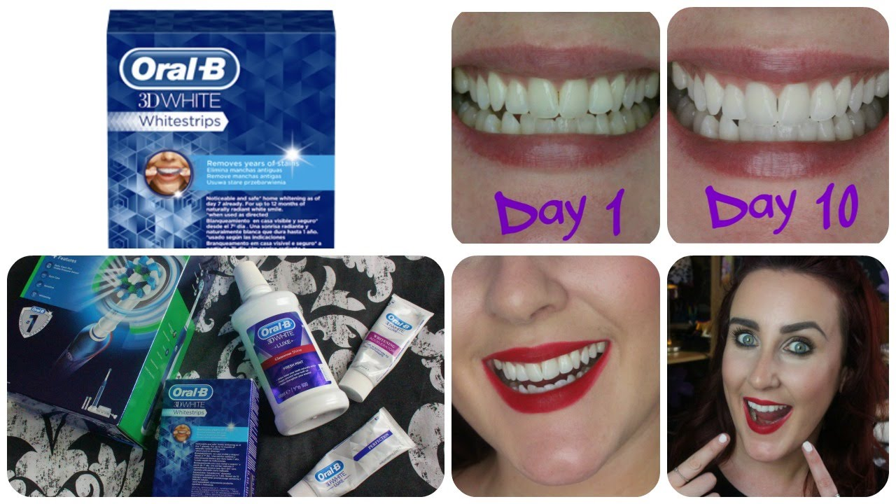 Oral B 3d White Whitestrips Review Results Youtube
