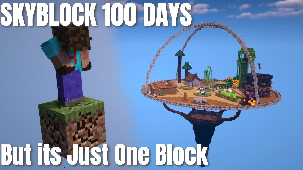 100 Days of Skyblock, But Its Just One Block (2021) | Minecraft Survival One Block Skyblock