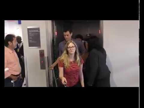 Amanda Seyfried and Thomas Sadoski arrive back at LAX
