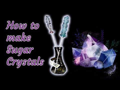 How to make Homemade Sugar Crystals Hard Candy - STEM activity for Kids