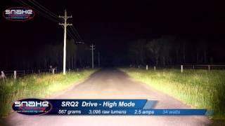 Rigid industries Hi/Lo SRQ2 Drive beam pattern - Snake Racing