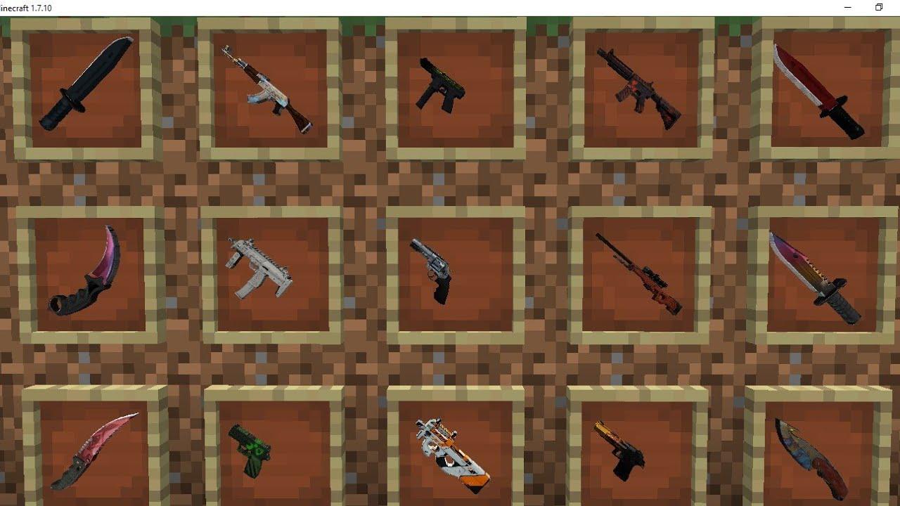 мод на двуручное оружие в майнкрафт 1.7.2
