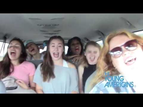 Vanpool Karaoke part 2 with Emily, Melissa, Katie, Taylor, Chloe,  Bree - The Young Americans Direct